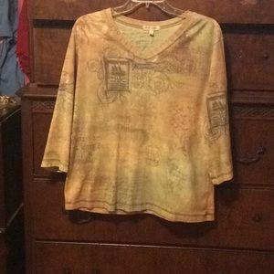 Tops - Xeit USA 3/4 Sleeve Shirt Smoke/PetFree